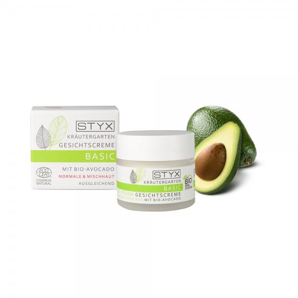 Kräutergarten Basic Gesichtscreme mit Bio-Avocado